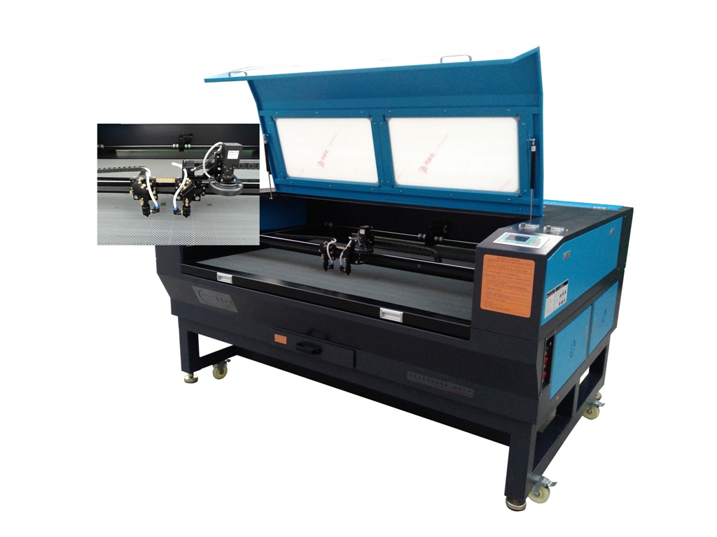 Dual-head Visual Positionning Laser Machine